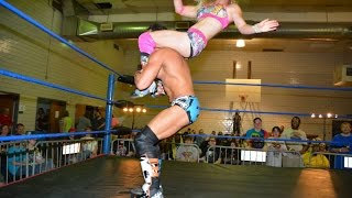 getlinkyoutube.com-Candice LeRae VS.  Johnny Gargano -Absolute Intense Wrestling [Intergender Wrestling]