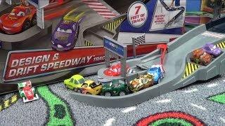 getlinkyoutube.com-Disney Cars Design Drift Speedway Product Review