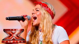 getlinkyoutube.com-Soul singer Louisa Johnson covers Who's Loving You | Auditions Week 1 | The X Factor UK 2015