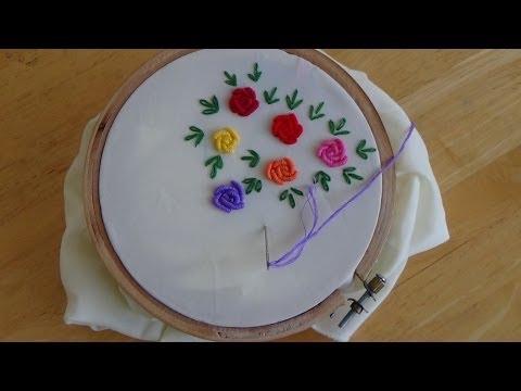 Hand Embroidery: Bullion Knot Stitch