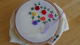 getlinkyoutube.com-Hand Embroidery: Bullion Knot Stitch