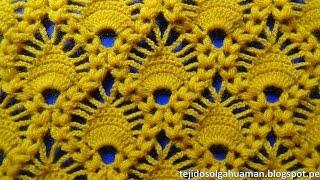 getlinkyoutube.com-crochet : punto combinacion de arañitas con punto garbanzo