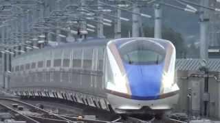 「かがやき」が「はくたか」を追い抜き(北陸新幹線)Hokuriku Shinkansen