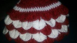 getlinkyoutube.com-DIY Crochet Crocodile Stitch - Ruffle Stitch  for making Jhalar in dress of Bal Gopal / Radha Rani -