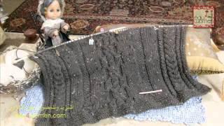 getlinkyoutube.com-بوليرو بغرز متنوعة من الضفائر Bolero with variety of cable stitches