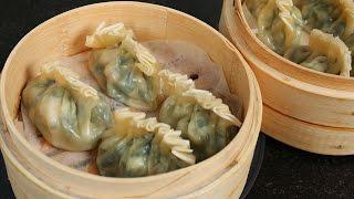 getlinkyoutube.com-Shrimp & Asian chive dumplings (Saeu buchu mandu: 새우 부추 만두)