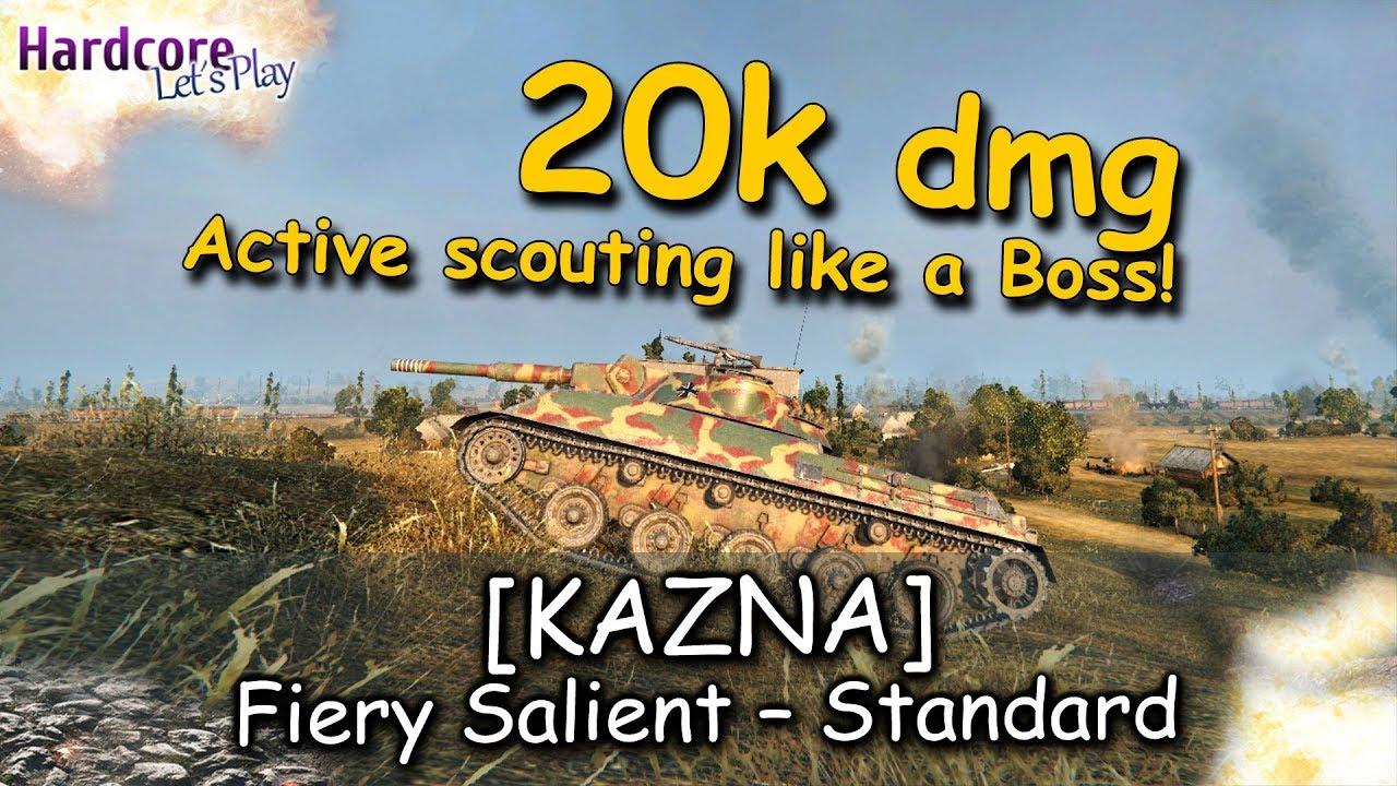 WOT   KAZNA  Active scouting like a Boss on Prokhorovka  20k  assist damage