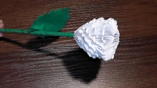 getlinkyoutube.com-3D origami flower rose tutorial (Gifts for Mother's Day)