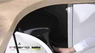 Gięta szafka narożna - meble kuchenne Nolte