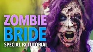 getlinkyoutube.com-The zombie bride sfx makeup tutorial