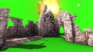 getlinkyoutube.com-Green Screen Old Church Bomb Explosion Destruction - Footage PixelBoom