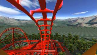 getlinkyoutube.com-3D Rollercoaster: Falcon (3D Glasses needed) (No Limits Simulator)