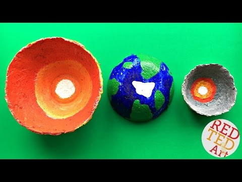 Galaxy Bowl DIY - Science Fair Project - SUN EARTH MOON DIY - Layers of the Earth