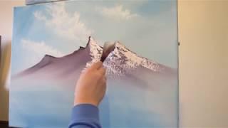 getlinkyoutube.com-Mountain Scene Part 1  Wet on Wet Painting Technique