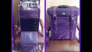 Review: Purple Yazmo Soft Sided Rolling Makeup Case