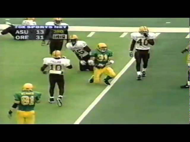 Oregon FB Chad Chance 18 yard gain on reception vs. ASU 11-14-1998