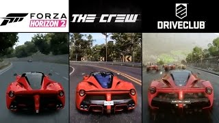 getlinkyoutube.com-DriveClub vs. Forza Horizon 2 vs. The Crew | LaFerrari Sound & Graphics Comparison (PS4 & Xbox One)