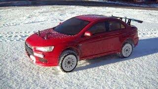 тест ралли зимой RC rally car snow testing Прикольные Видео RC