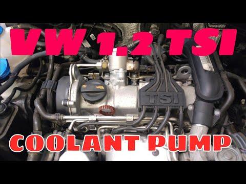 VW GOLF 1.2 TSI WYMIANA POMPY WODY. COOLANT PUMP REPLACEMENT