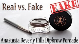 Real vs. Fake: Anastasia Beverly Hills Dipbrow Pomade