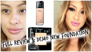 Review DEMO: NEW Maybelline Fit Me-Matte and Poreless Foundation