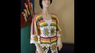 getlinkyoutube.com-Crochet cardigan de cuadrados o granny squares parte 1 - con Ruby Stedman