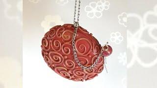 getlinkyoutube.com-Polymer clay Box pendant/ Caixa pendente (Fimo) Tutorial