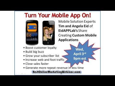 Mobile App Creation - Online Webinar