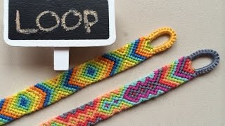 getlinkyoutube.com-Easy beginning LOOP for friendship bracelets