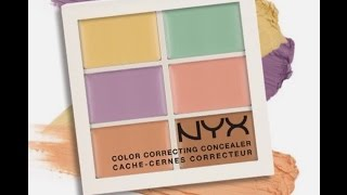 getlinkyoutube.com-NYX Color Corrector Concealer Palette - Watch me cover my spots!!!!