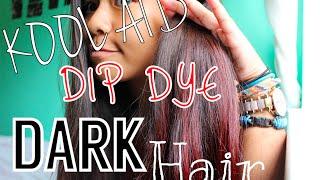 getlinkyoutube.com-Kool Aid Dip Dye [Dark Hair]