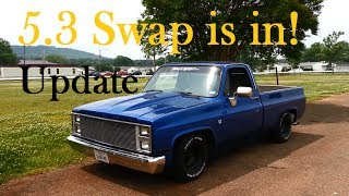 getlinkyoutube.com-5.3 Swap Update! Its in and driving! '87 Chevy Truck - C10 R10 LS1
