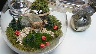 getlinkyoutube.com-DIY: Miniaturlandschaft als hübsche Deko für den Tisch selbst machen | Deko-Kitchen