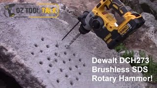 getlinkyoutube.com-Dewalt 18V XR Brushless SDS Rotary Hammer Drill - DCH273 Review