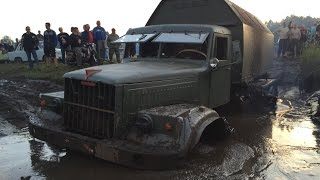 getlinkyoutube.com-Kraz 255 im Schlamm + Bergung Pütnitz 2016 КрАЗ-255 stuck