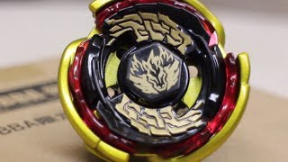 Gold Big Bang Pegasus 105RF WBBA CHAMPION Asia Model Unboxing & Review - Beyblade Metal Fight 4D