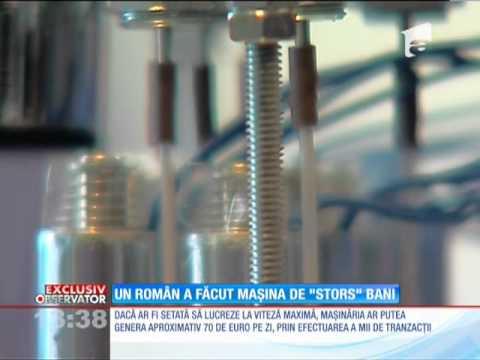 Un român a inventat maşina legală de făcut bani!