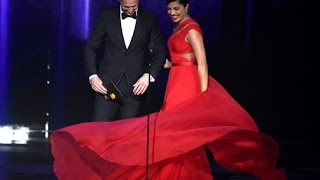 Priyanka Chopra & Tom Hiddleston (Taylor Swift's boyfriend) presenting at The 68th Emmys 2016
