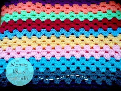Manta fácil de GANCHILLO -  Easy CROCHET blanket (TUTORIAL)