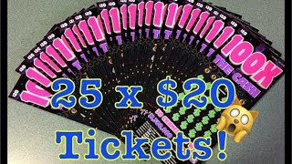$500 in Tickets | Book of $20 100X The Cash Texas Lottery Scratch Off Tickets