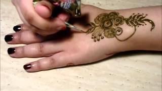 getlinkyoutube.com-Gulf Style Henna Mehndi by Toronto, ON Henna Artist of Mocha Henna