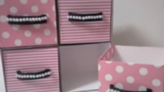 getlinkyoutube.com-DIY : #15 Cute Mini Drawer ♥