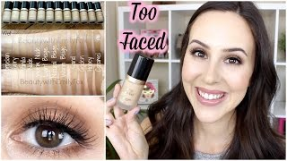 getlinkyoutube.com-Too Faced Born This Way Foundation Review/GRWM Semi Sweet Palette