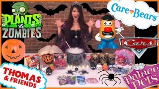 getlinkyoutube.com-SURPRISE TOYS HALLOWEEN WITCH Disney Cars Blind Bag Opening Thomas Train Ryan ToysReview