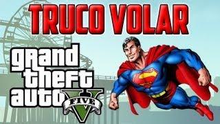 getlinkyoutube.com-TRUCO GTA V    VOLAR COMO SUPERMAN    CHEAT SKYDRIVE FLYING IN LOS SANTOS    GTA 5 HD
