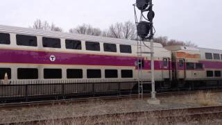 getlinkyoutube.com-Inbound MBTA Pulling Into Framingham Station