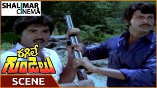 getlinkyoutube.com-Ragile Gundelu Movie || Balaji & Mohan Babu Angry On Jeeva Scene || Mohan Babu, Radhika