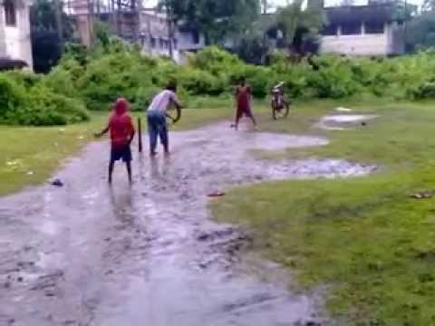 CRICKET MATCH ON RAINING DAY