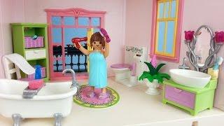 getlinkyoutube.com-Playmobil Romantik Bad 5307 für Puppenhaus auspacken seratus1 Dollhouse
