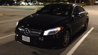 Mercedes Benz CLA Night Review (LED)
